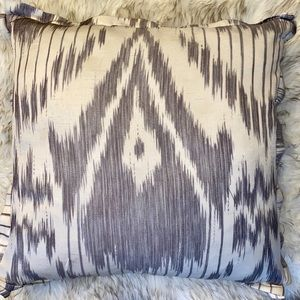 Purple & Cream Ikat Down Large Accent Pillow